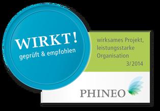 Dies ist das Logo des Phineo Wirkt Siegels
