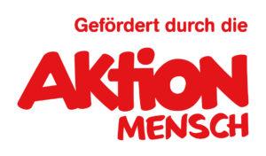 Dies ist das Logo der Aktion Mensch. In roter Schrift steht Gefördert durch die Aktion Mensch