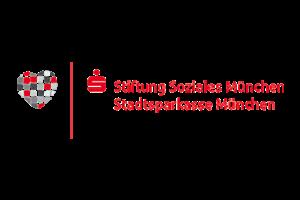 Dies ist das Logo der Stiftung Soziales München der Stadtsparkasse München