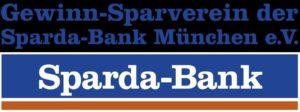 Dies ist das Logo der Sparda-Bank. Es zeigt den Schriftzug Gewinn-Sparverein der Sparda-Bank München e.V.